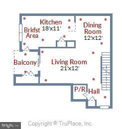Main level floor plan - 43415 MADISON RENEE TER #117, ASHBURN