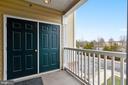 Balcony w/utility closet - 43415 MADISON RENEE TER #117, ASHBURN