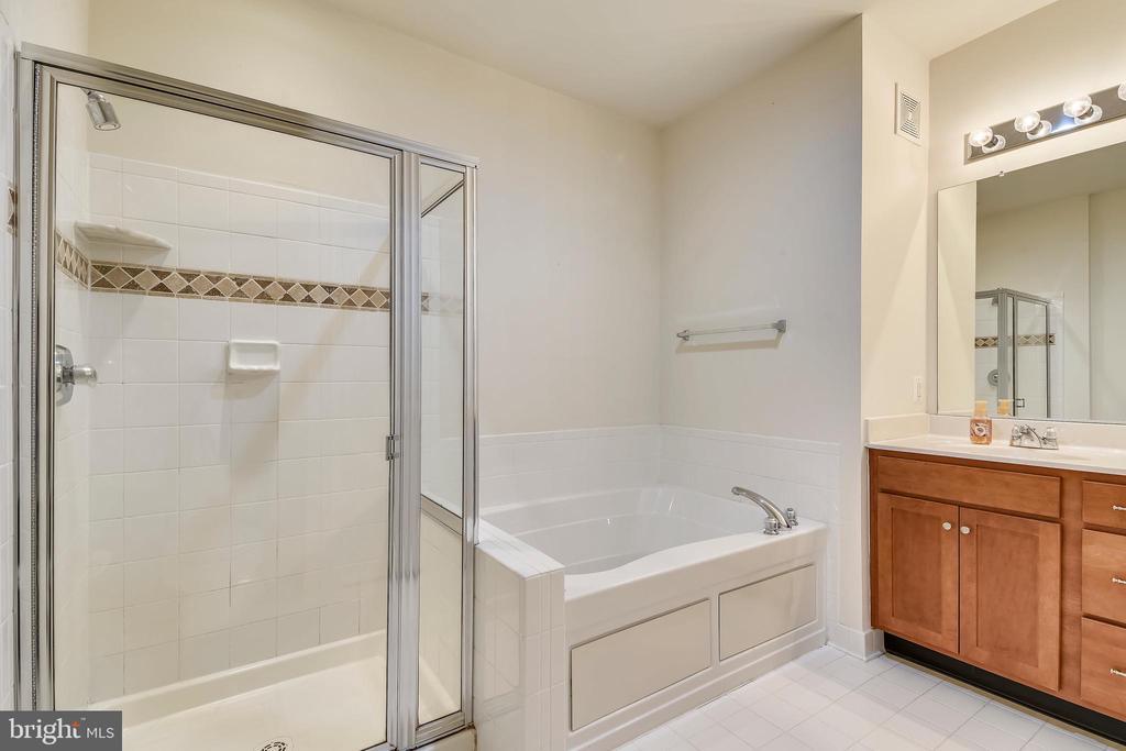 Master bath soaking tub & separate shower w/tile - 43415 MADISON RENEE TER #117, ASHBURN