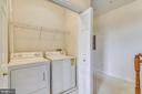 Laundry closet shelving, washer & dryer convey - 43415 MADISON RENEE TER #117, ASHBURN