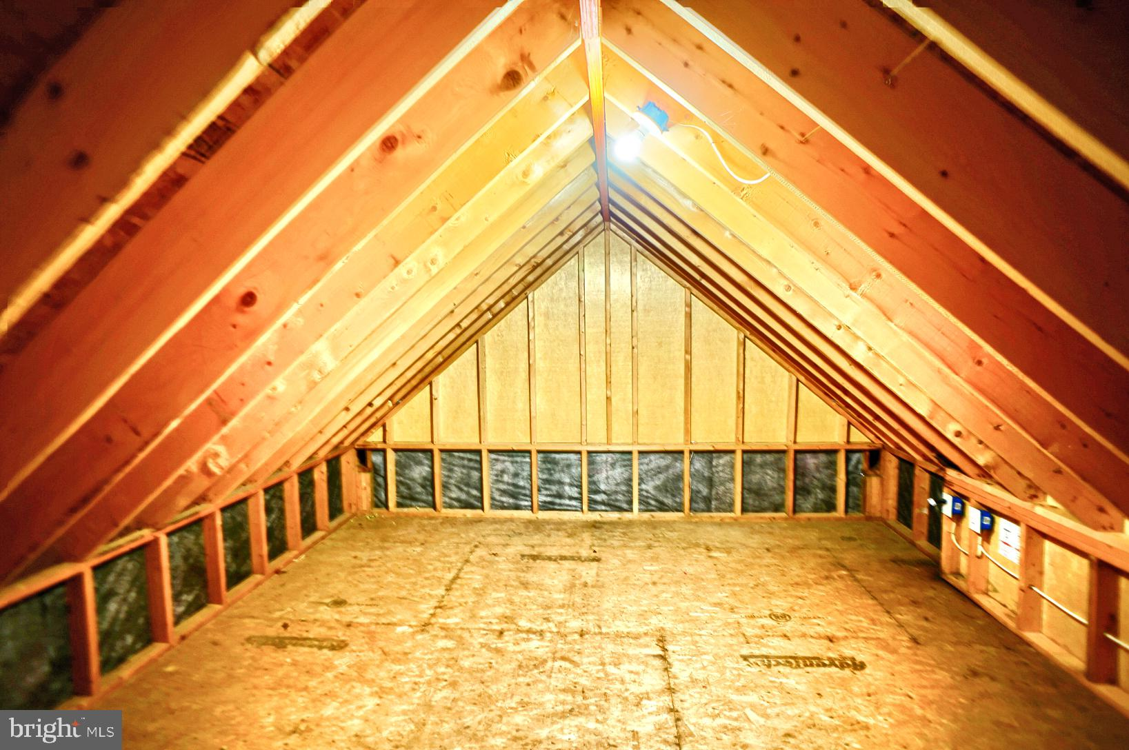 attic storage area
