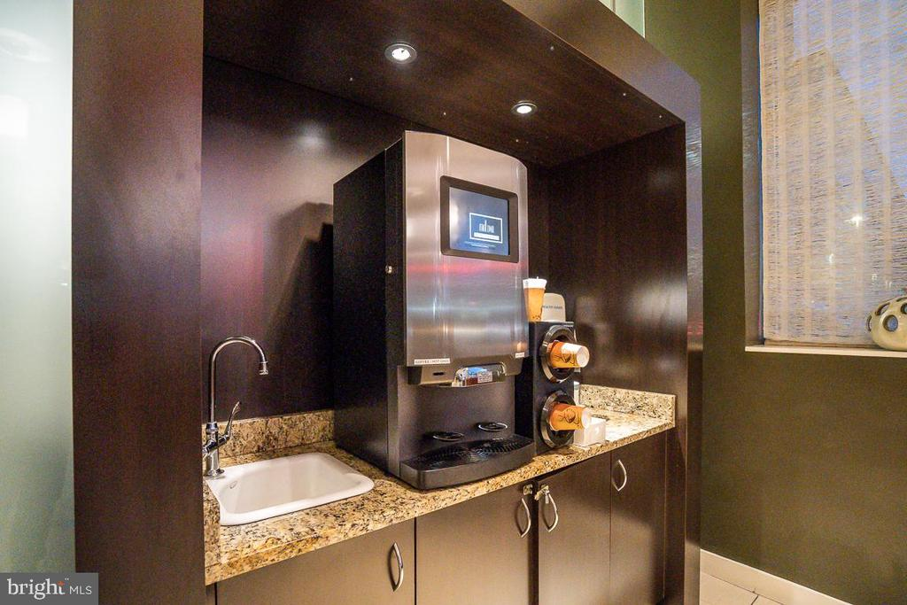 Coffee station in Lobby - 5750 BOU AVE #1809, ROCKVILLE