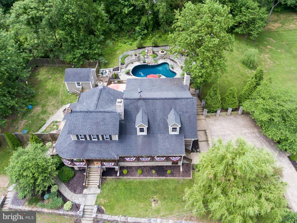 Aerial view from the North - 36847 STONY POINT RD, HILLSBORO