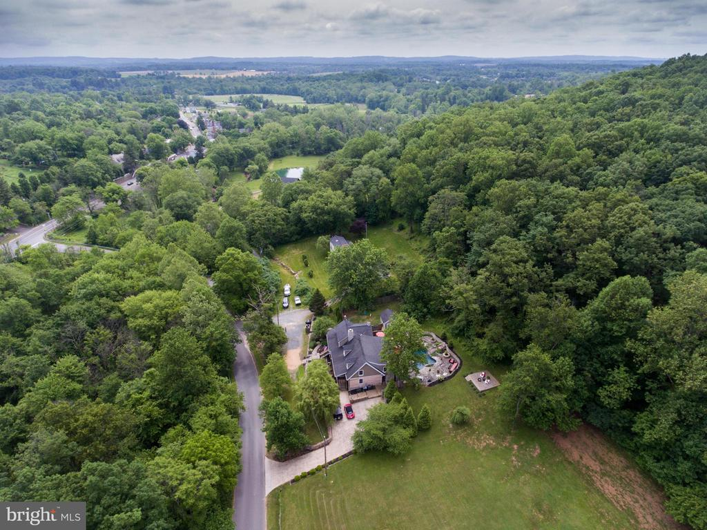 Aerial view from the west - 36847 STONY POINT RD, HILLSBORO