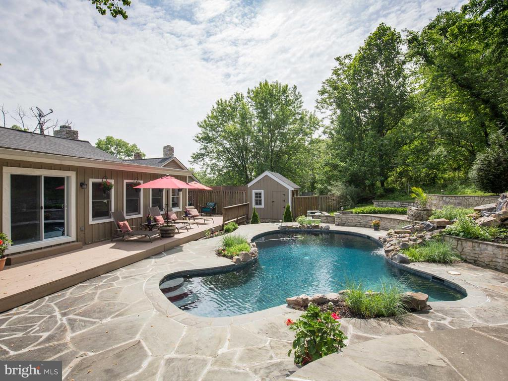 Pool area with loads of patio and decking , shed - 36847 STONY POINT RD, HILLSBORO
