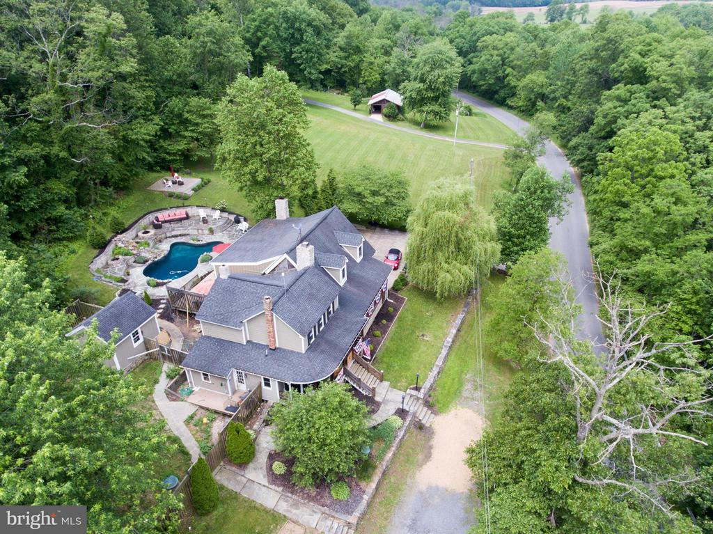 Aerial view from the east - 36847 STONY POINT RD, HILLSBORO