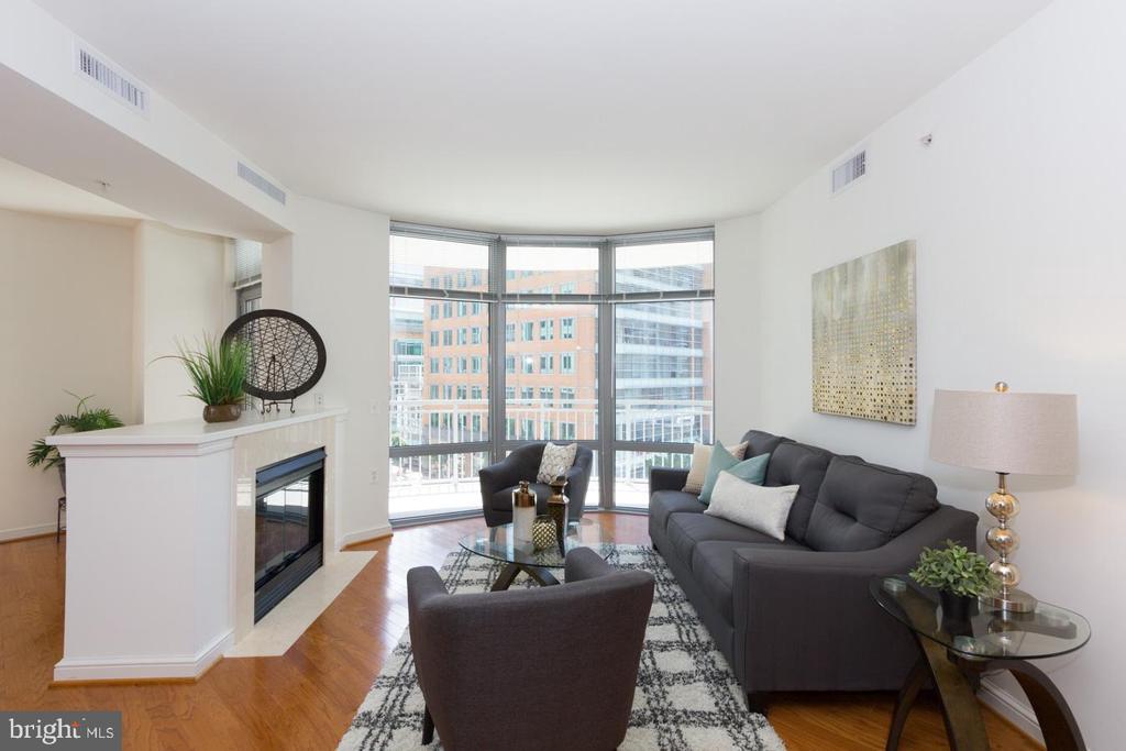 Living Room - 11990 MARKET ST #503, RESTON