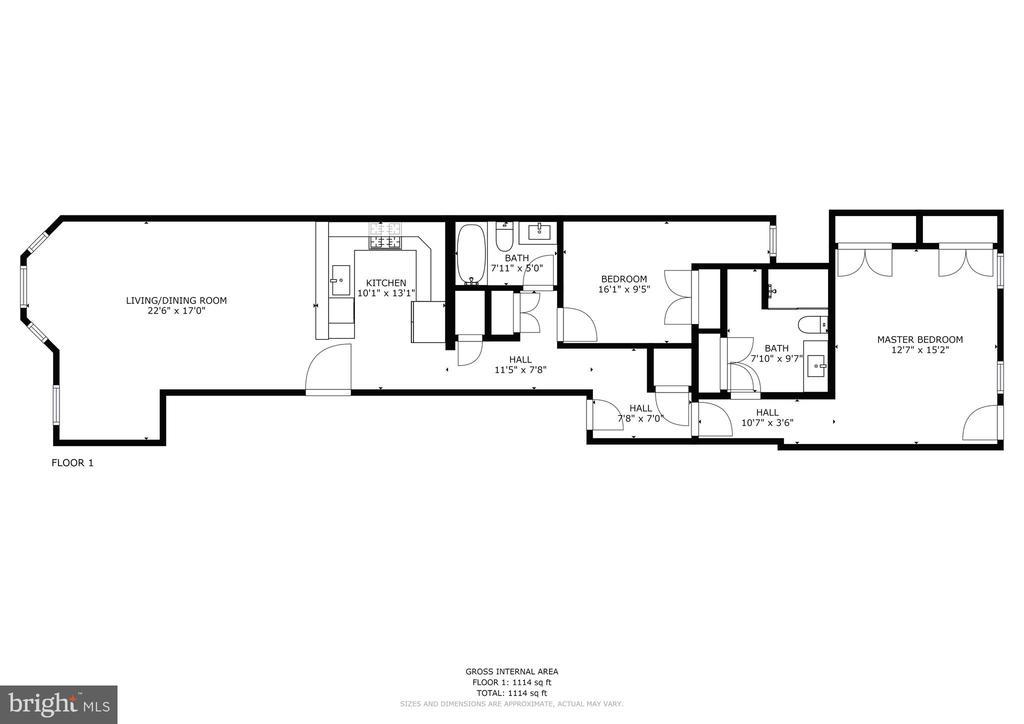 Floor Plan - 2516 17TH ST NW #3, WASHINGTON