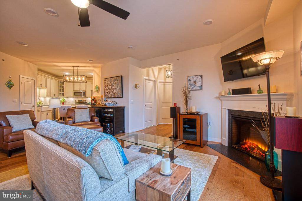 Cozy Fireplace with Granite Hearth - 43095 WYNRIDGE DR #406, BROADLANDS