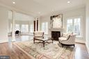 Living Room and Library Beyond - 1049 BROOK VALLEY LN, MCLEAN