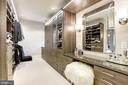 Master Custom Walk-In Closet - 1049 BROOK VALLEY LN, MCLEAN
