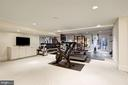 Recreation Room currently used as Home Gym - 1049 BROOK VALLEY LN, MCLEAN