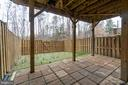 Paver Patio with Room for Shaded Seating - 109 HILLSIDE CT, STAFFORD