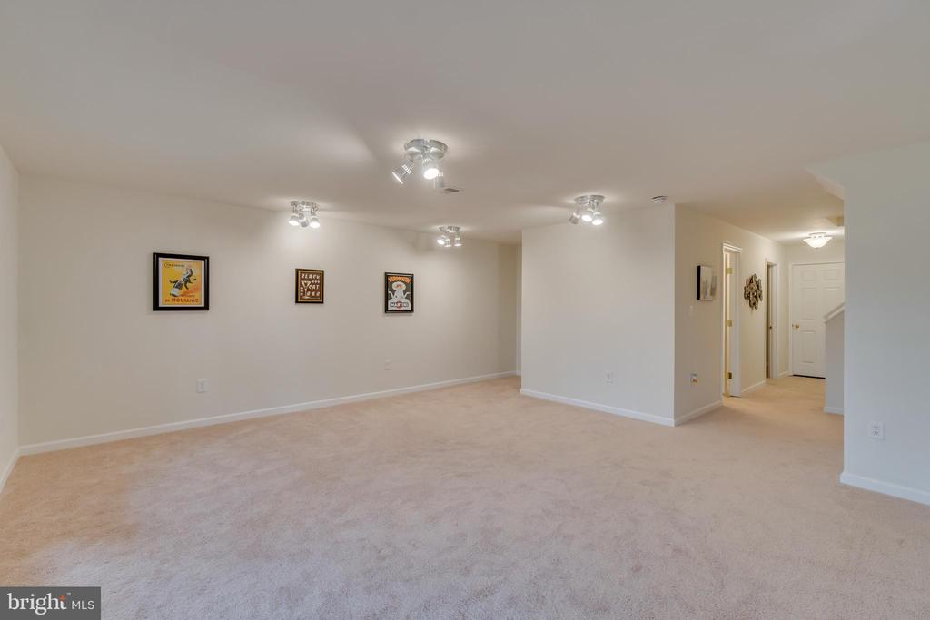 Tons of Space in the Basement Rec Room - 109 HILLSIDE CT, STAFFORD