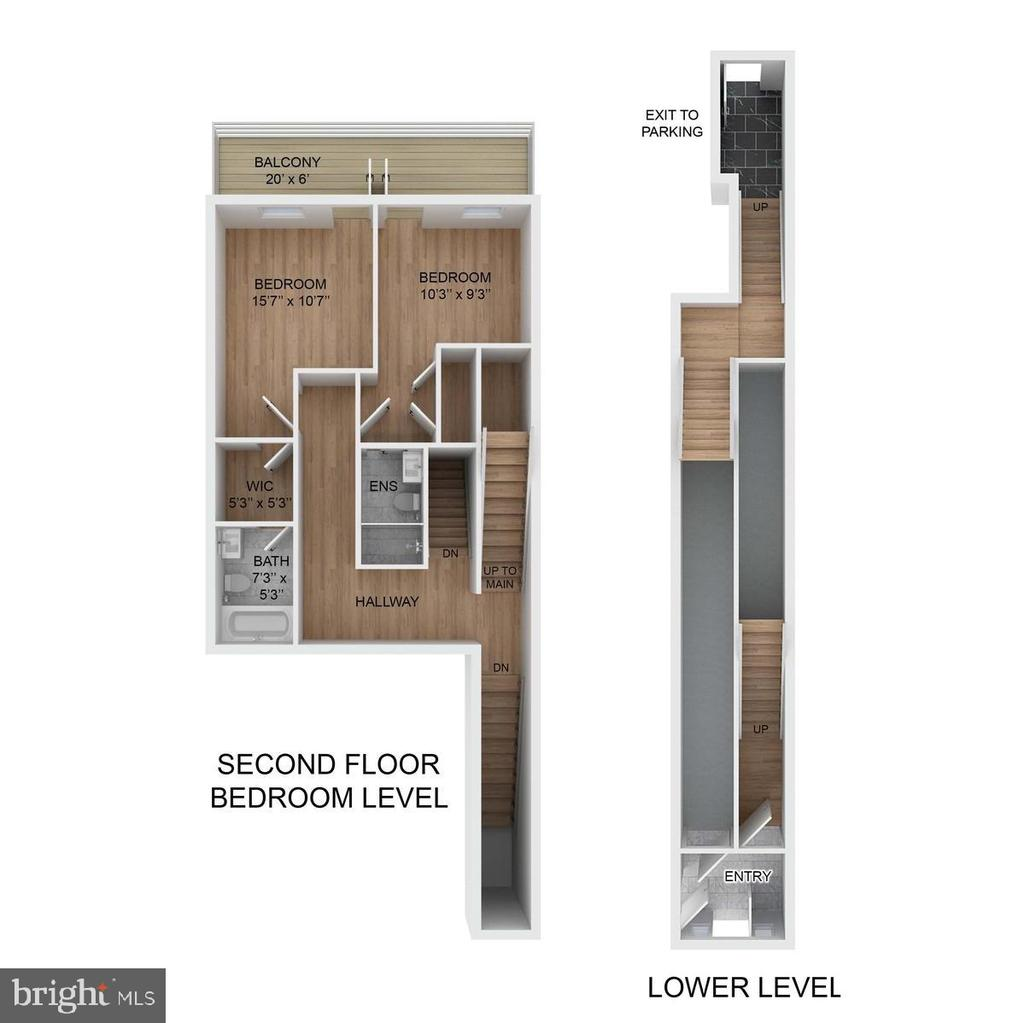 Floor plan of similar unit - 1844 MONROE ST NW #2, WASHINGTON