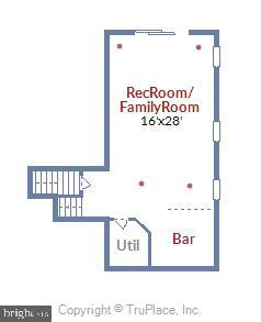 Floor plan of Family Room Level - 315 BONHEUR AVE, GAMBRILLS