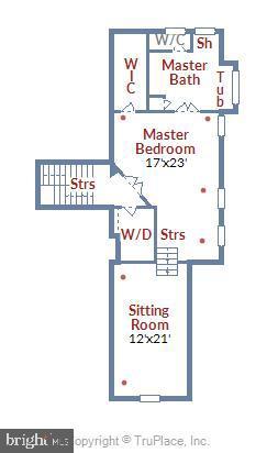 Floor Plan of Owner's Suite Level - 315 BONHEUR AVE, GAMBRILLS