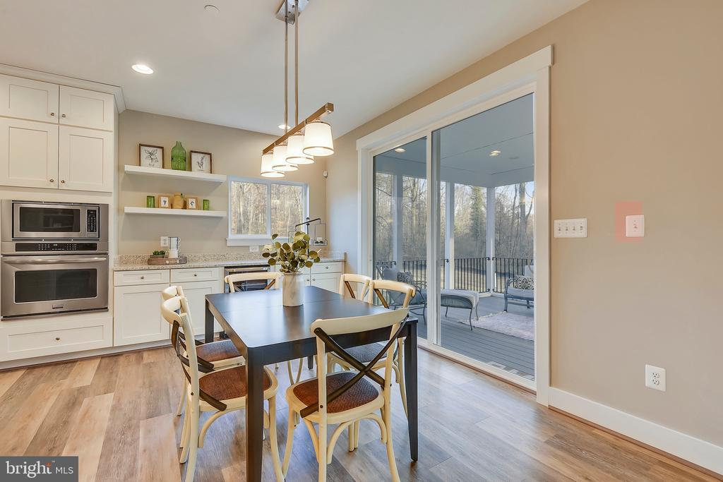 Breakfast Area with optional cabinetry and appl. - 315 BONHEUR AVE, GAMBRILLS
