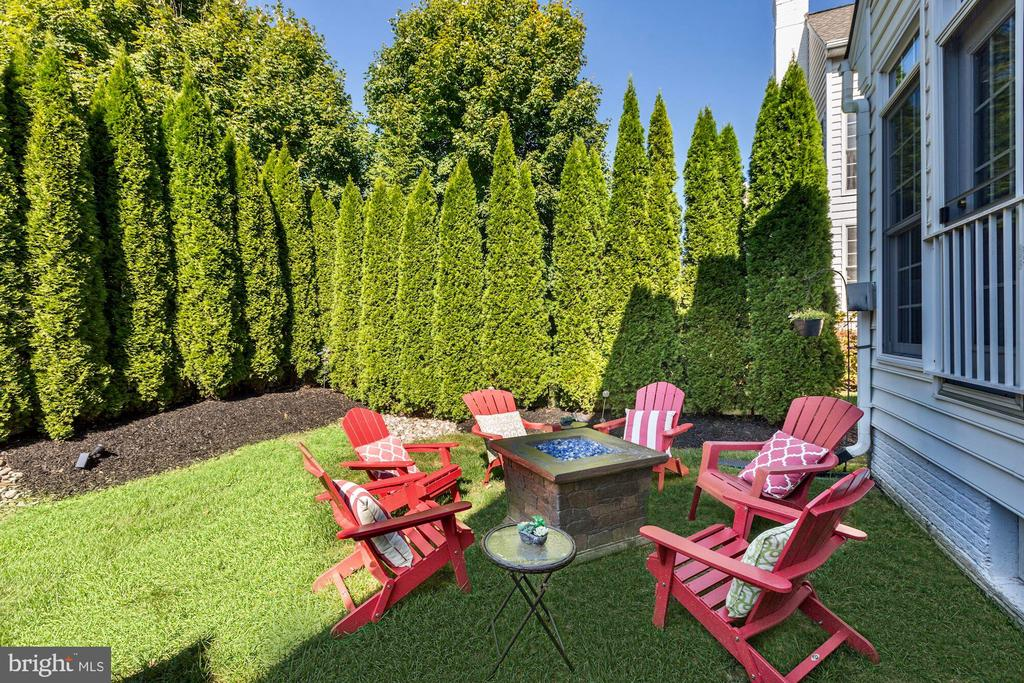 Private Backyard with Natural Tree Fence - 201 LONG TRAIL LN, ROCKVILLE