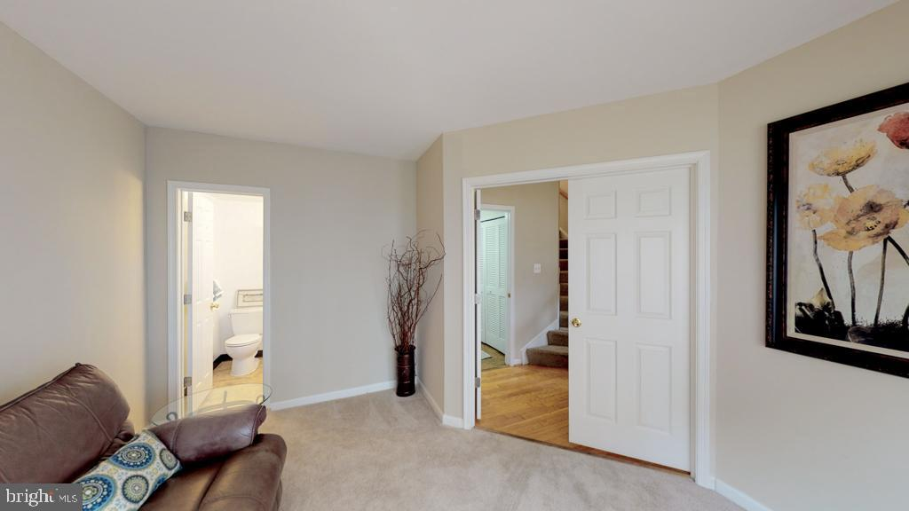 First Level Bedroom with En Suite Full Bathroom - 416 PHELPS ST, GAITHERSBURG