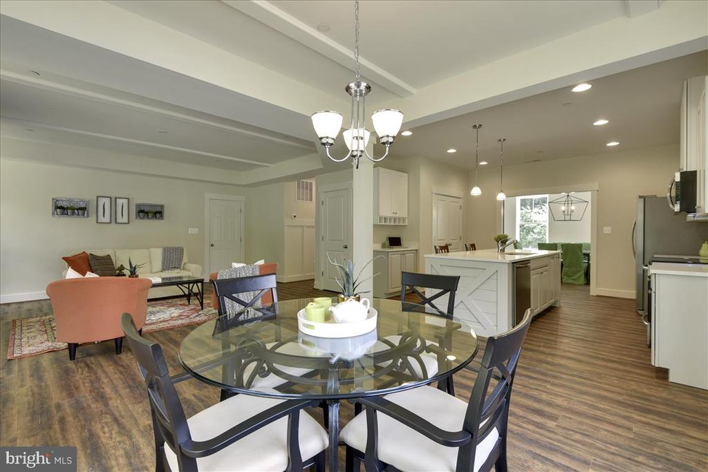 Open concept plan, shows upgrades - 1512 BEAUX LN, GAMBRILLS