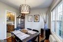 Dining Room - Upgraded Chandelier! - 3335 MARTHA CUSTIS DR, ALEXANDRIA