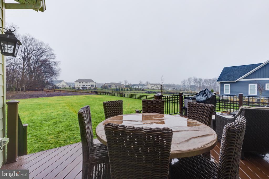 Deck overlooking enormous fenced back yard - 22982 HOMESTEAD LANDING CT, ASHBURN