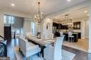 Dining area with updated light fixture - 22982 HOMESTEAD LANDING CT, ASHBURN