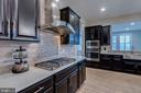 Chef's hood and gas cooking - 22982 HOMESTEAD LANDING CT, ASHBURN