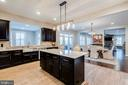 Upgraded cabinets and counters - 22982 HOMESTEAD LANDING CT, ASHBURN