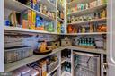 Custom pantry with drink refrigerator - 22982 HOMESTEAD LANDING CT, ASHBURN