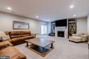 Club level with inviting fireplace - 22982 HOMESTEAD LANDING CT, ASHBURN