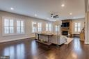 Extra space for additional seating/game table - 22982 HOMESTEAD LANDING CT, ASHBURN