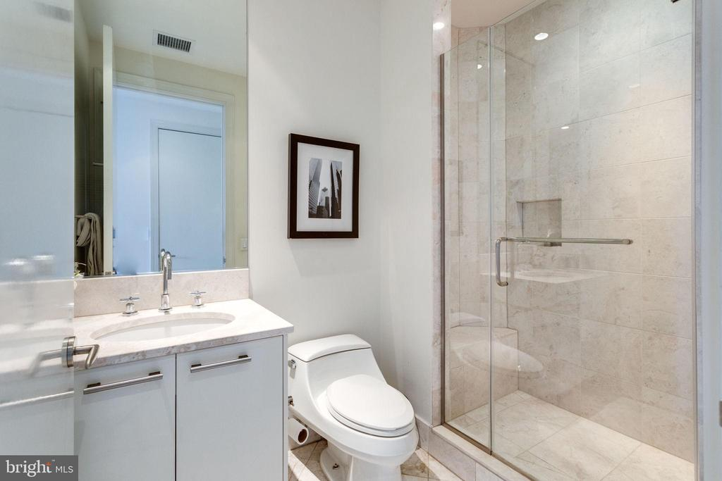 2nd  full bathroom features Italian marble - 1881 N NASH ST #2309, ARLINGTON