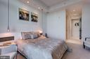 2nd  Bedroom adorned  w/ pendant lights - 1881 N NASH ST #2309, ARLINGTON