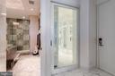 New Master Bedroom closet etched glass pocket door - 1881 N NASH ST #2309, ARLINGTON