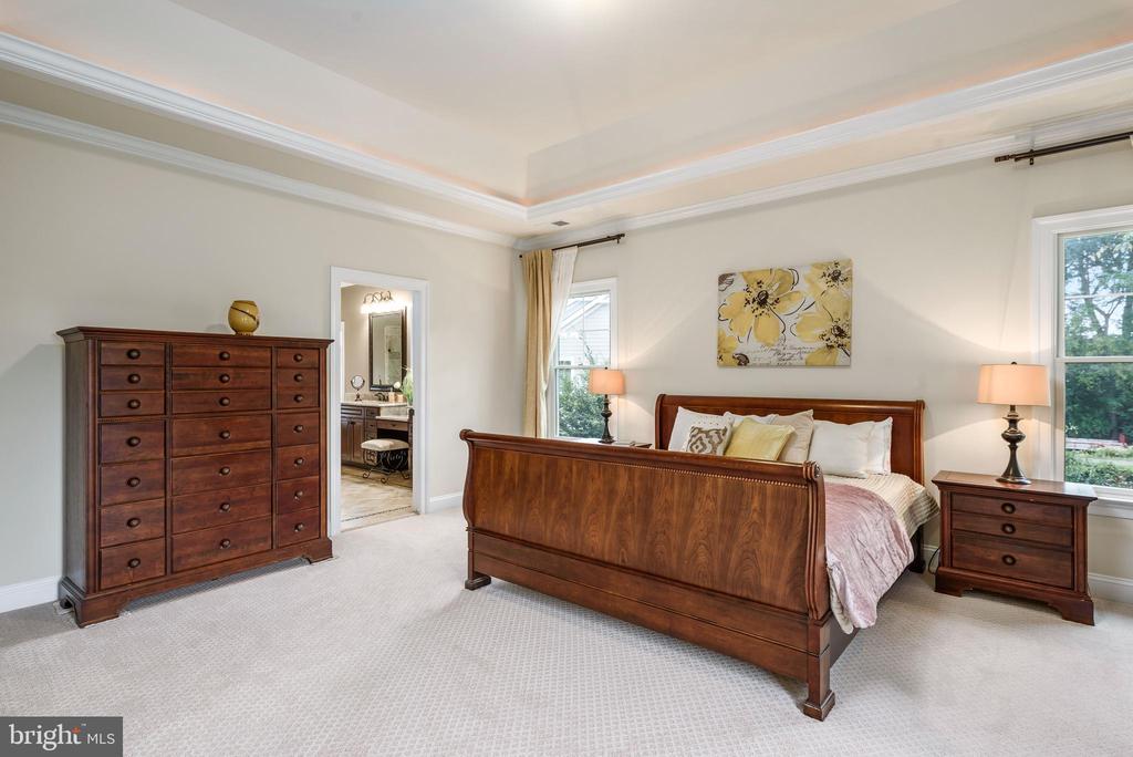 Master Bedroom w/tray ceiling - 10323 LYNCH LN, OAKTON