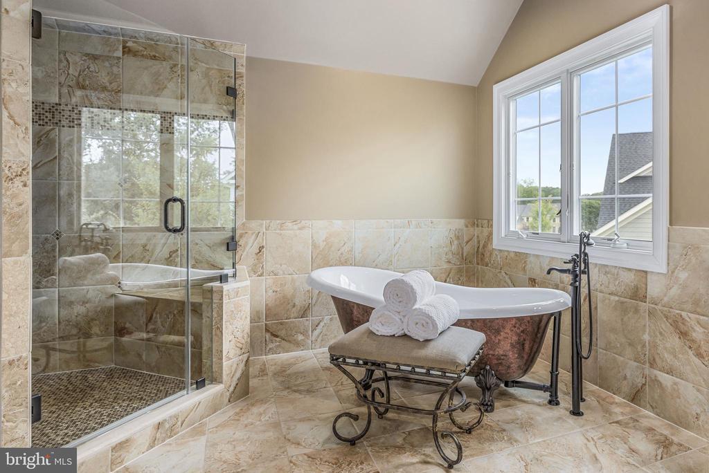 Master Bath w/copper-sheathed tub, amazing shower - 10323 LYNCH LN, OAKTON