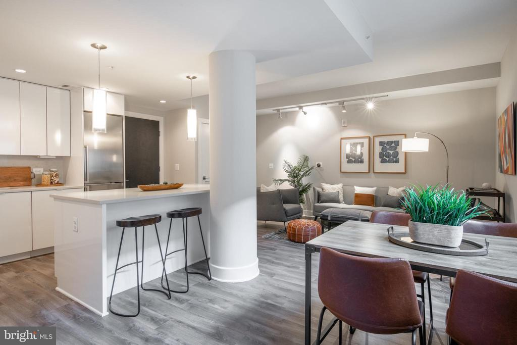 Living/Dining/Kitchen - 1311 13TH ST NW #T09, WASHINGTON