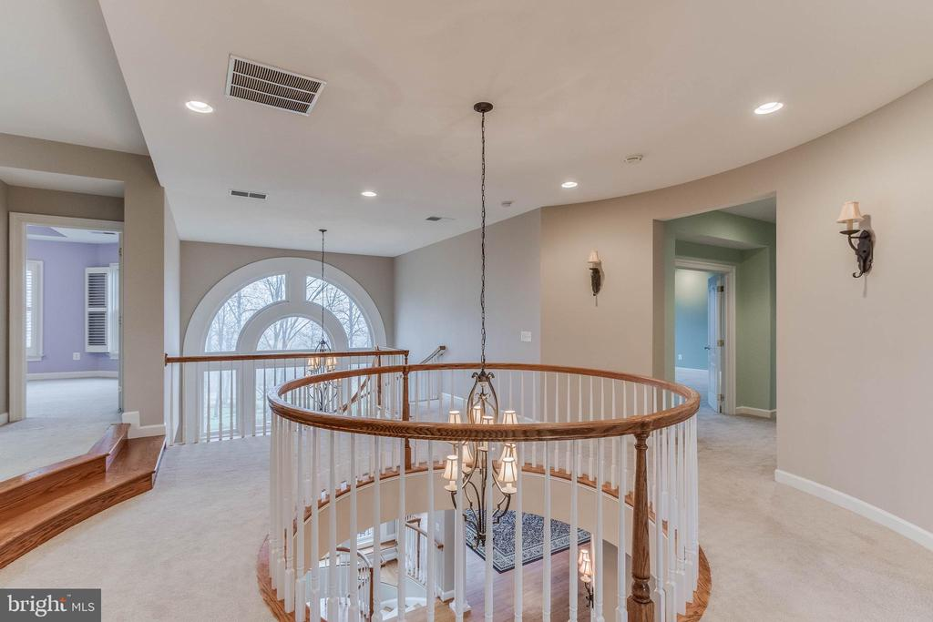 upstairs hallway with gorgeous views - 17066 WINNING COLORS PL, LEESBURG