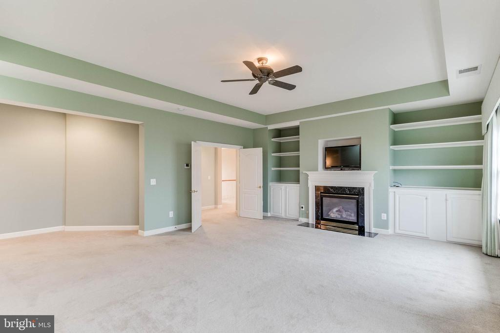 master bedroom with built in bookcases - 17066 WINNING COLORS PL, LEESBURG