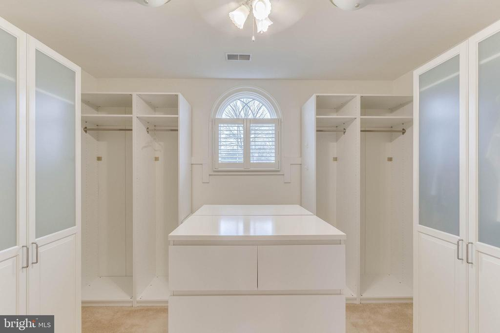 one of three closets in master - 17066 WINNING COLORS PL, LEESBURG