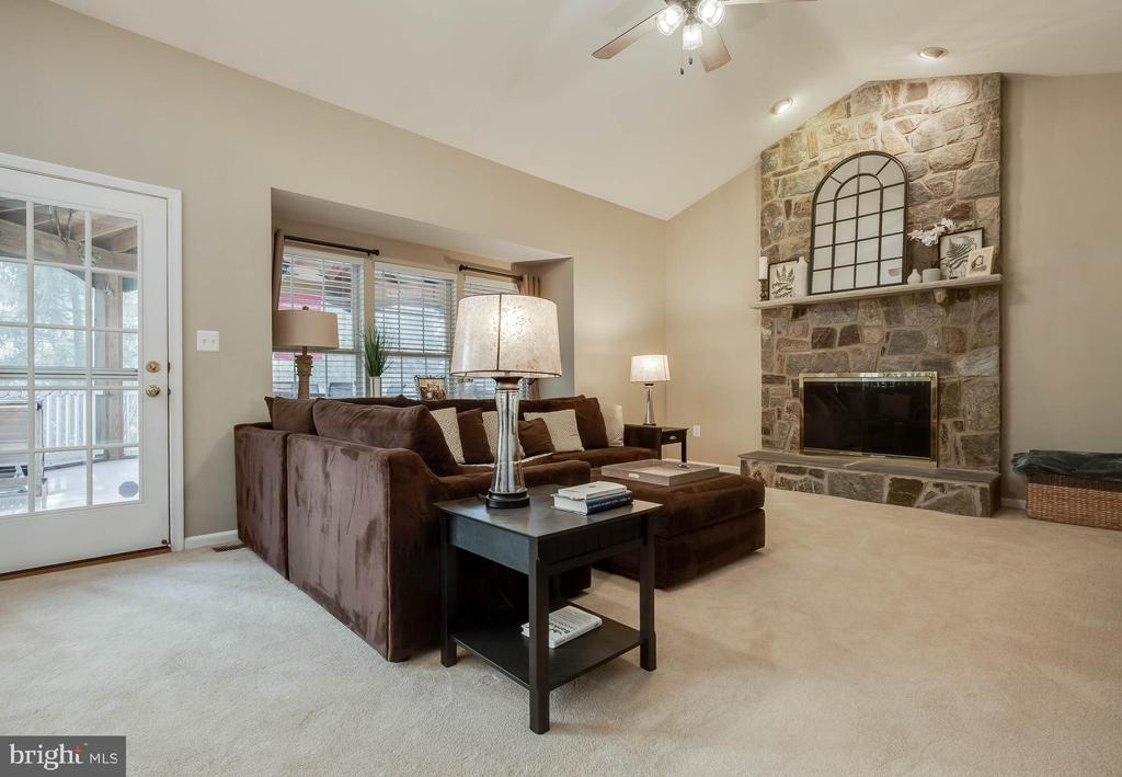 Spacious FR with Floor to Ceiling Stone FP - 43265 KATIE LEIGH CT, ASHBURN