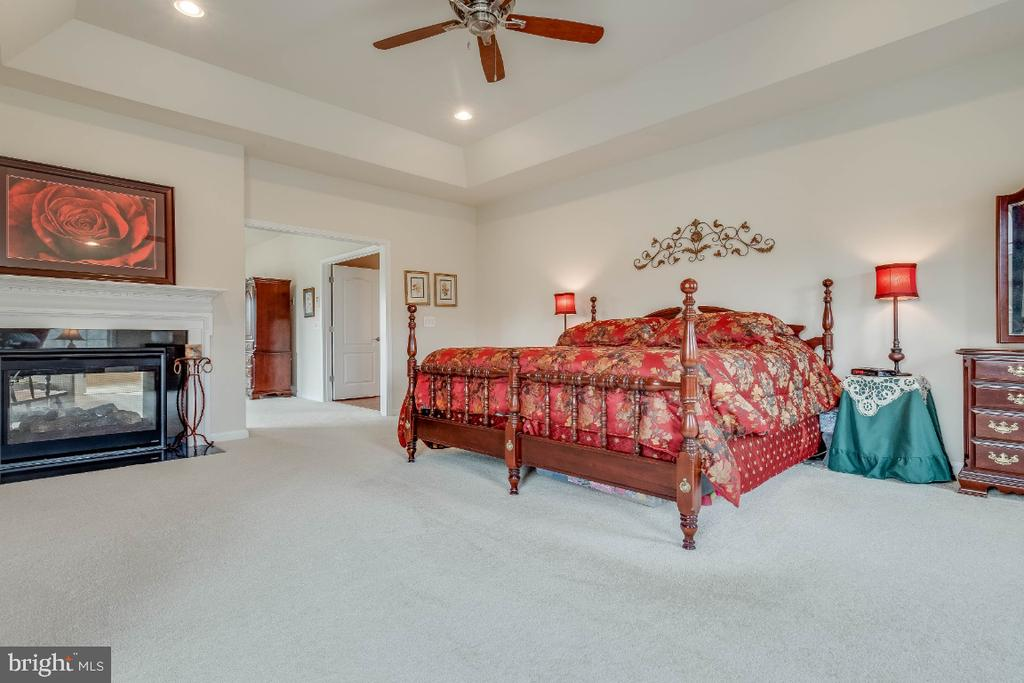 Master Bedroom with 2 Sided Gas Fireplace - 41985 RIDING MILL PL, ASHBURN