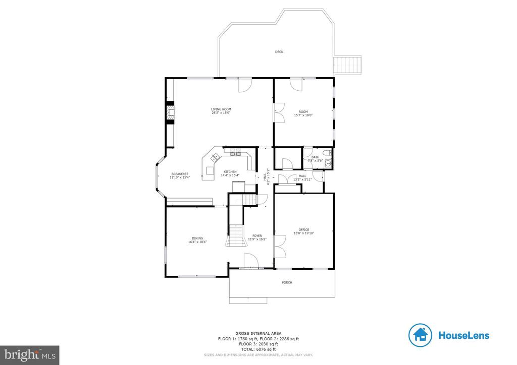 Main Level Floor Plan - 41985 RIDING MILL PL, ASHBURN