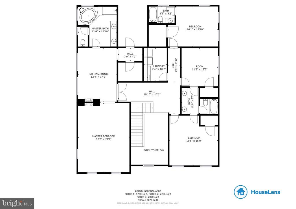 Upper Level Floor Plan - 41985 RIDING MILL PL, ASHBURN