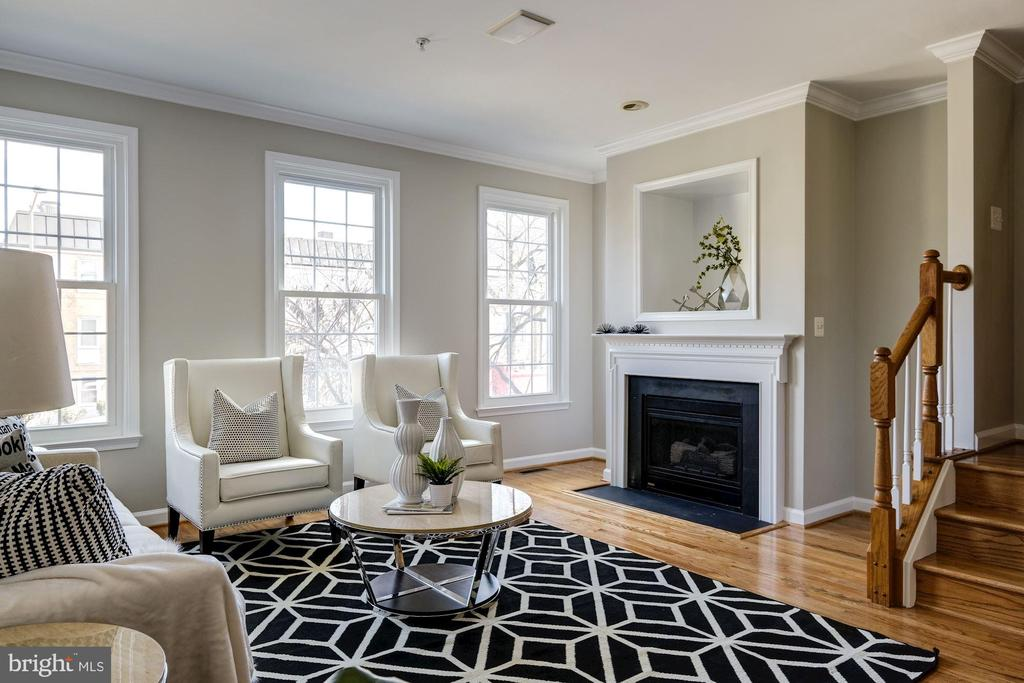 Living Room with Fireplace - 605 7TH ST SW, WASHINGTON