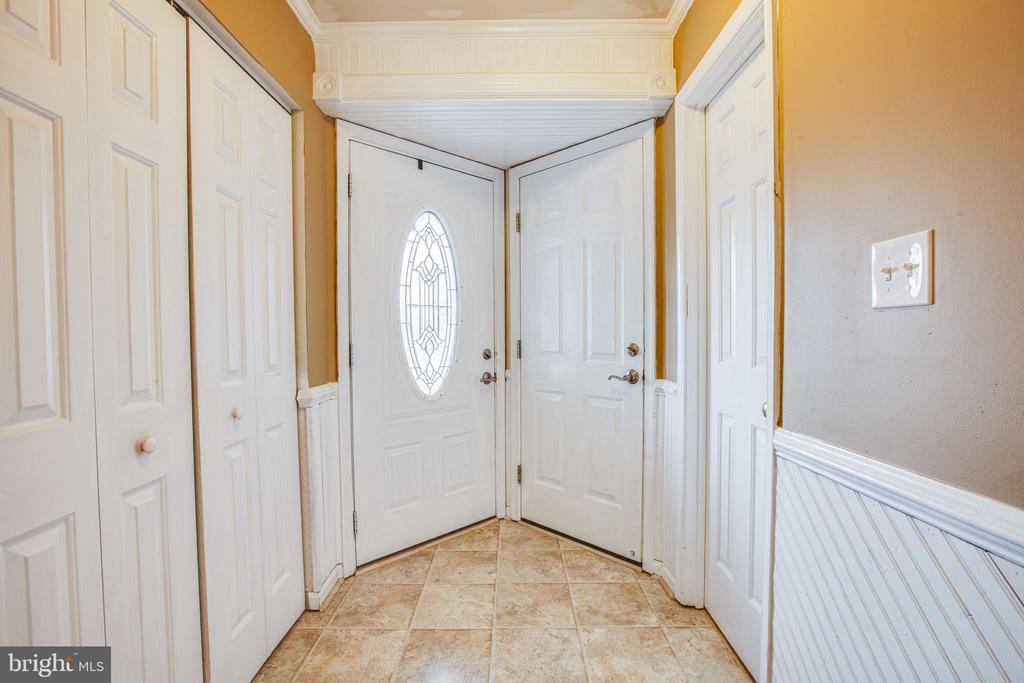 FRONT DOOR TO FOYER - 7311 MIDDLETON DR, FREDERICKSBURG