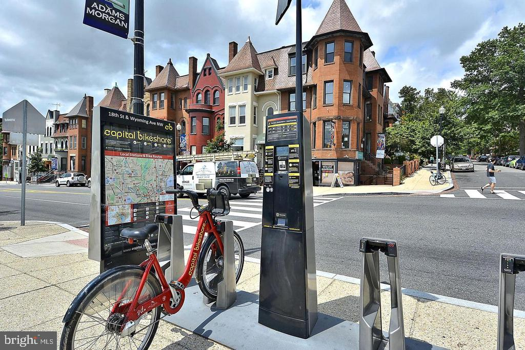 Bike shares nearby - 1719 EUCLID ST NW #2, WASHINGTON