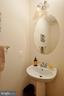 half bath on the main level - 75 CHAPS LN, FREDERICKSBURG
